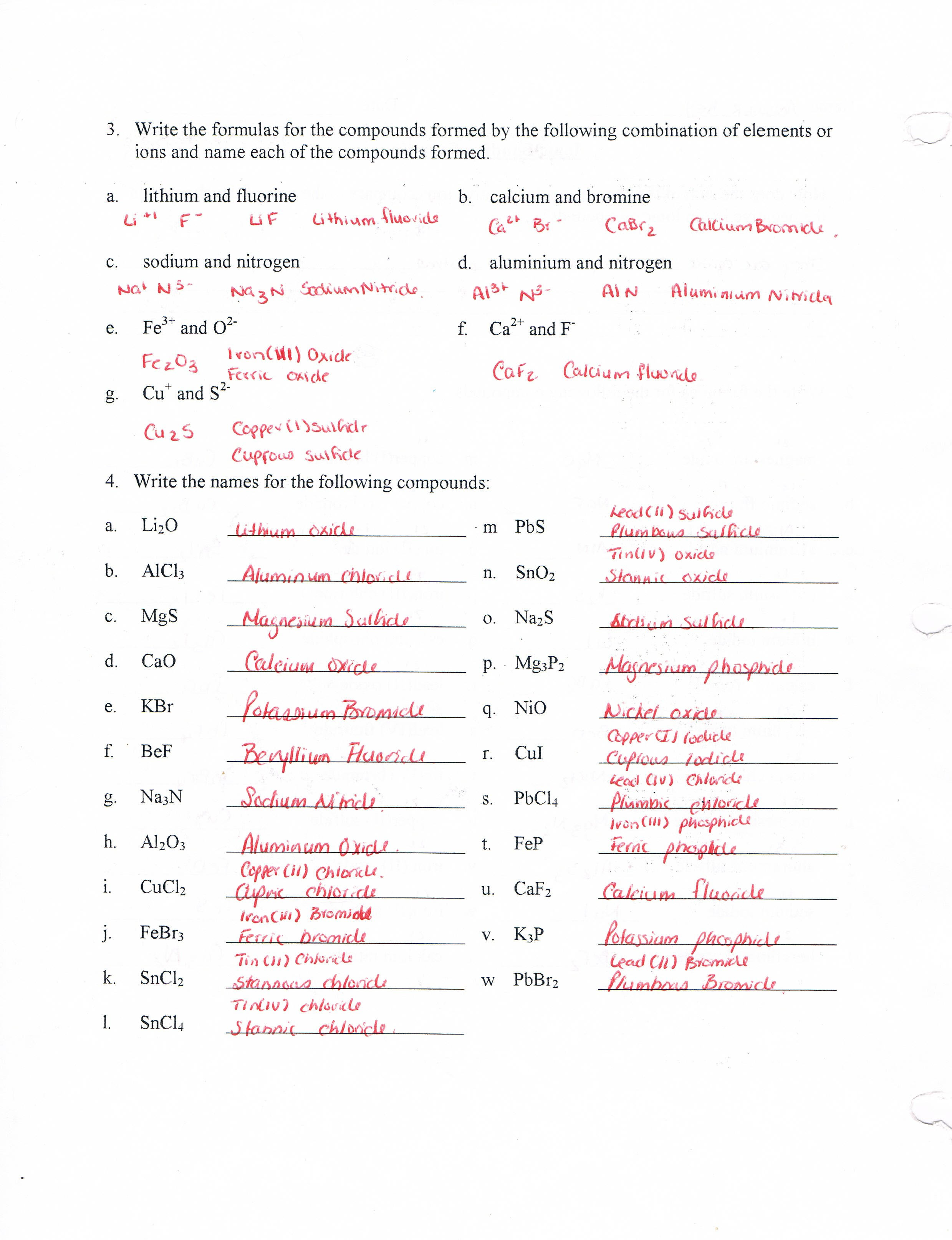 hight resolution of Worksheet and quiz solutions - Trinity HS Science