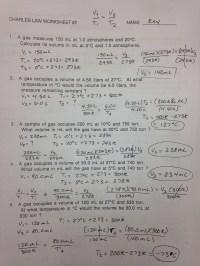 Printables. Charles Law Worksheet Answers