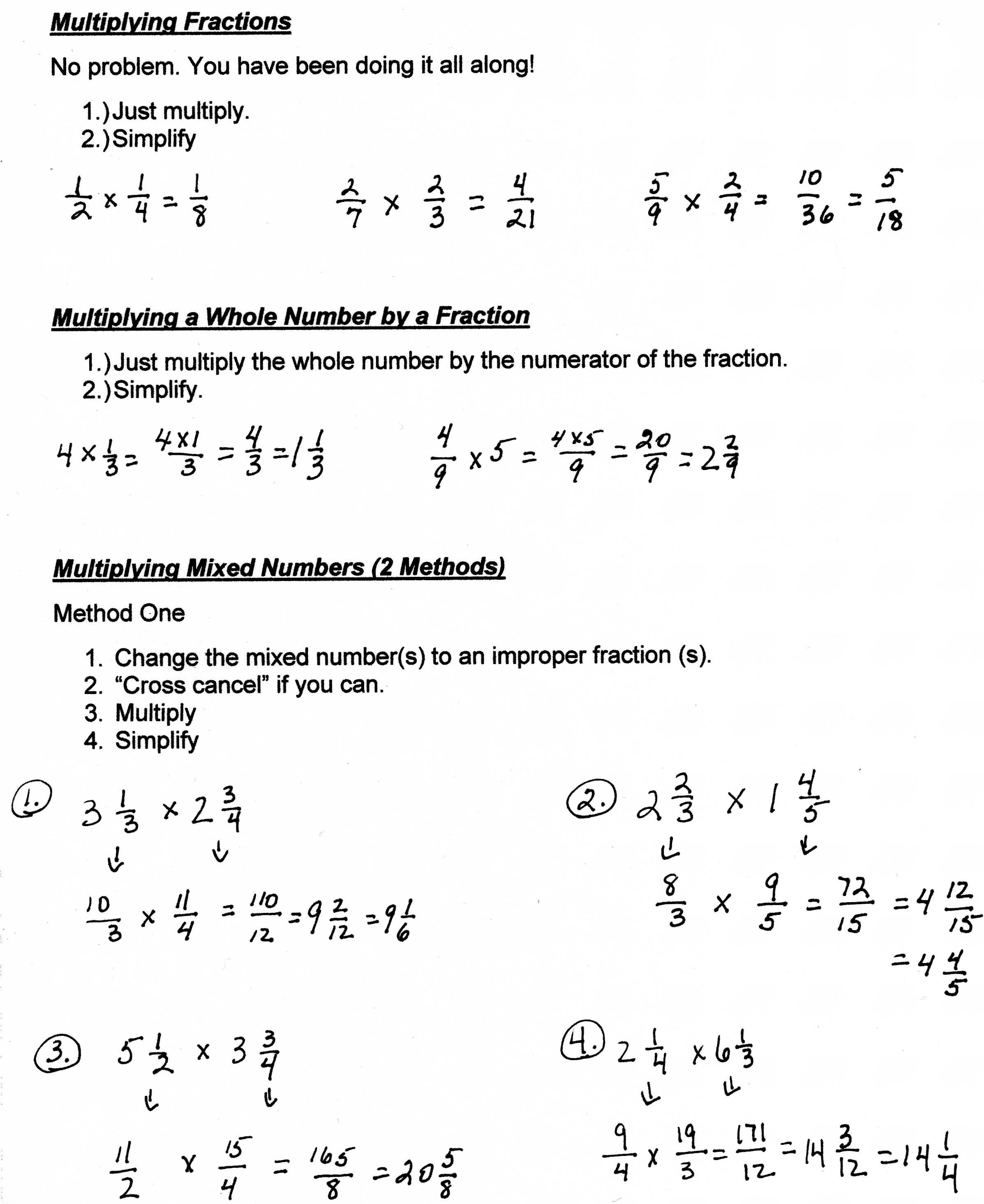 hight resolution of Unit 8: Fractions and Ratios - Mrs. Morelli