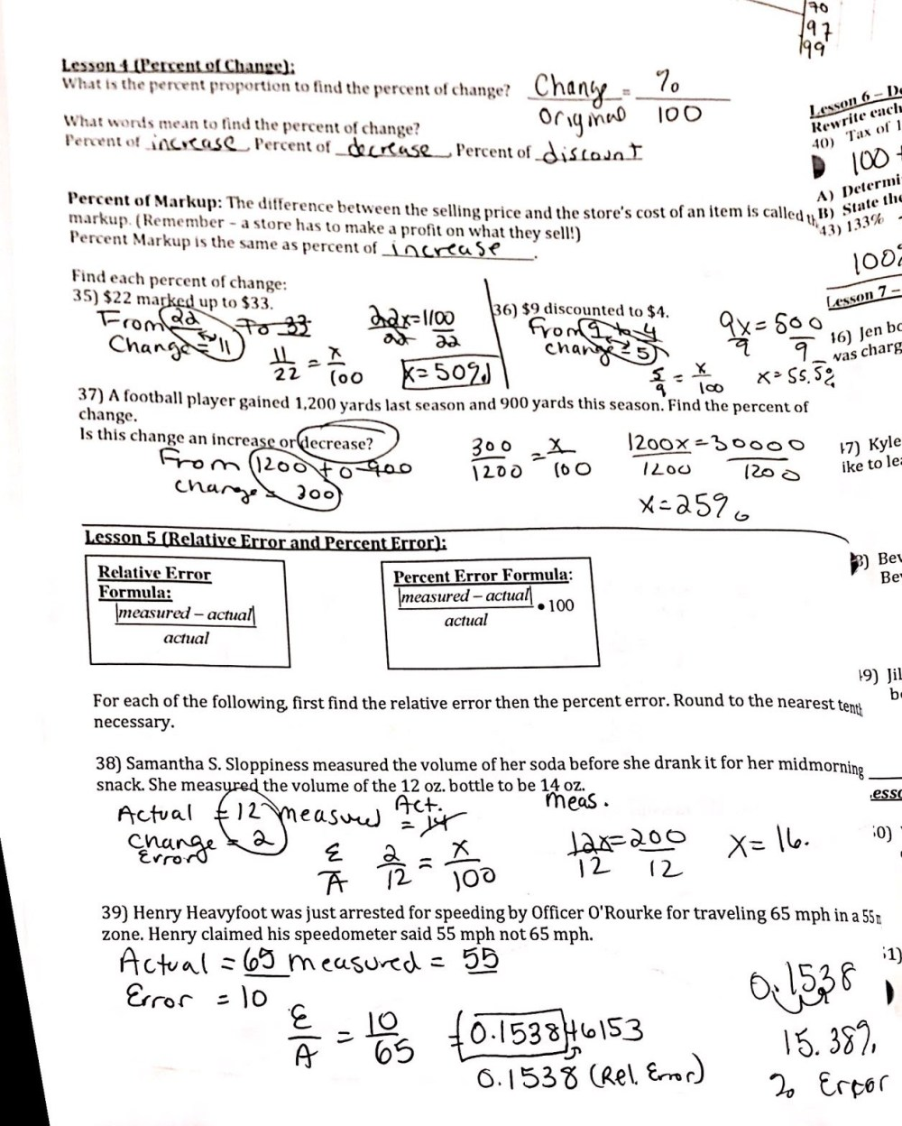 medium resolution of Packets \u0026 Worksheets - Sagamore 7th Grade Math