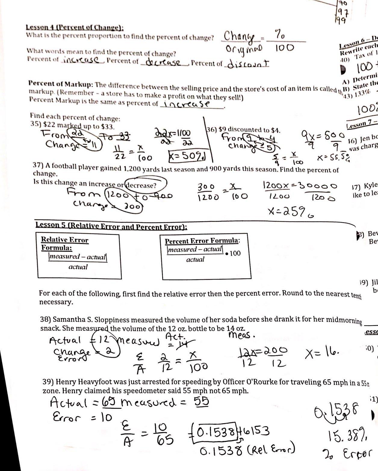 hight resolution of Packets \u0026 Worksheets - Sagamore 7th Grade Math