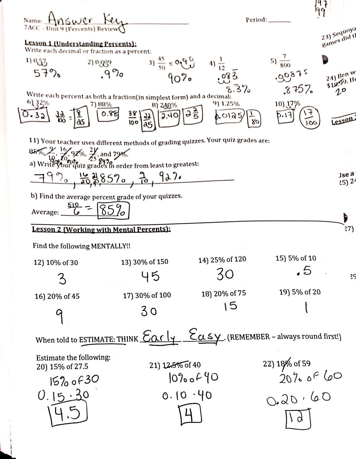 Packets Amp Worksheets