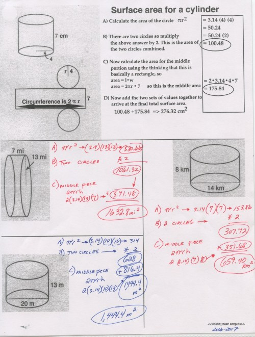 small resolution of SURFACE AREA - MATH 8 RSU#2