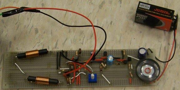 Simple Bfo Metal Detector Schematic Diagram