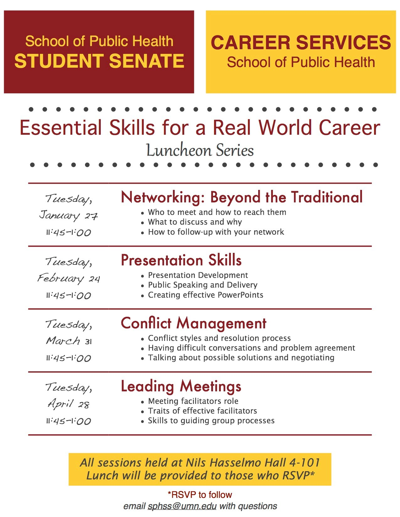 Essential Skills For A Real World Career Luncheon Series