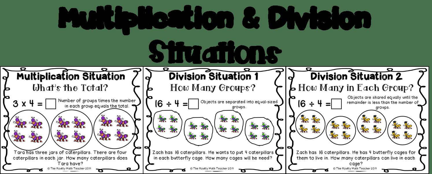 hight resolution of Multiplication / Division - Grade 4