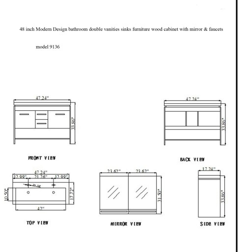 small resolution of model 9136 spec virtue double sink vanity cabinet