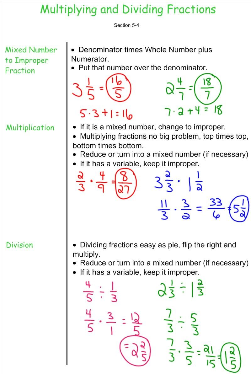 hight resolution of Multplying and Dividing Fractions - 7th Grade Pre-Algebra - Mr. Burnett