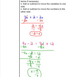 Solving Equations with Variables on Both Sides - 7th Grade Pre-Algebra -  Mr. Burnett [ 1192 x 800 Pixel ]