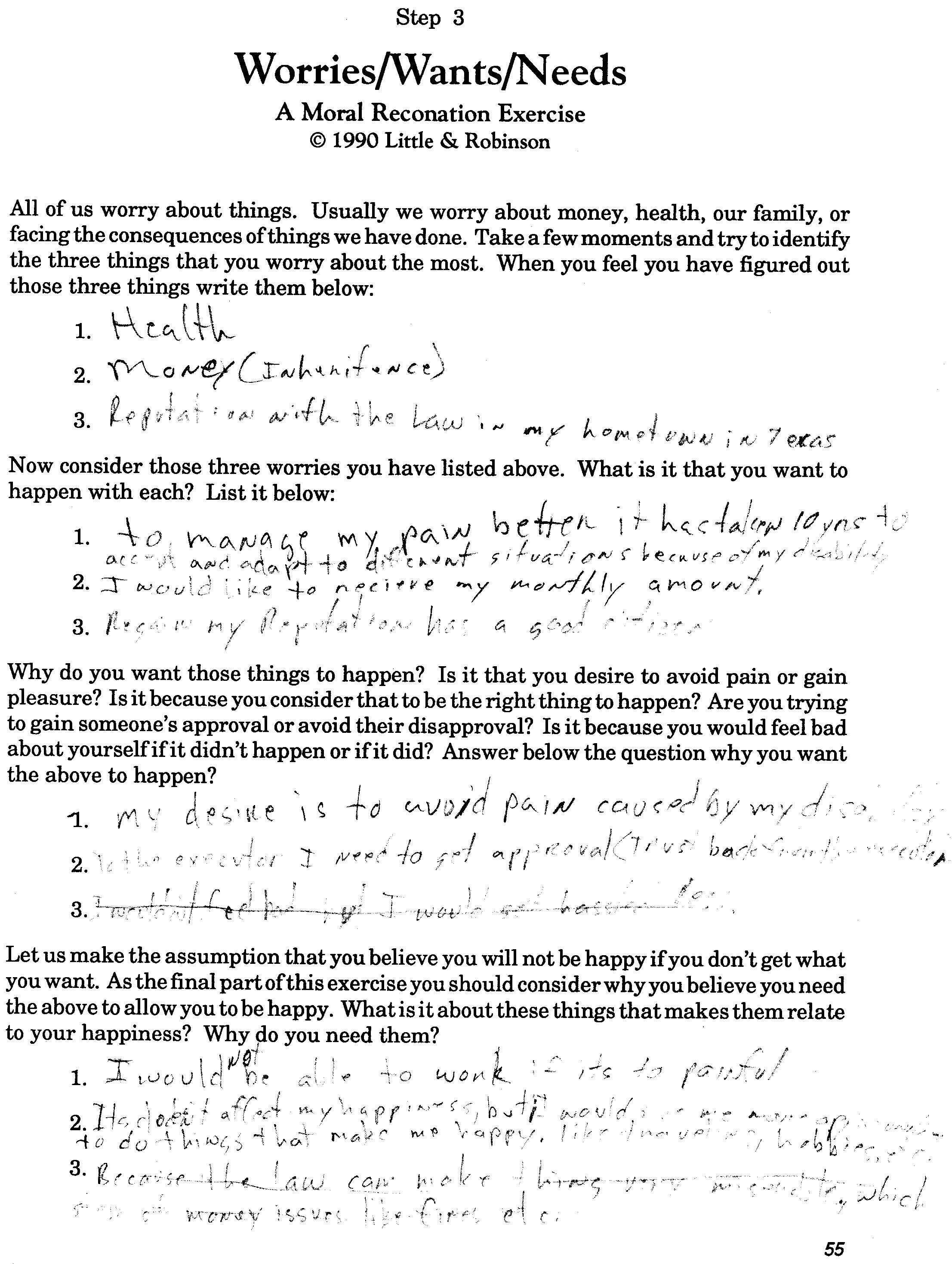 Aa Step 9 Worksheet
