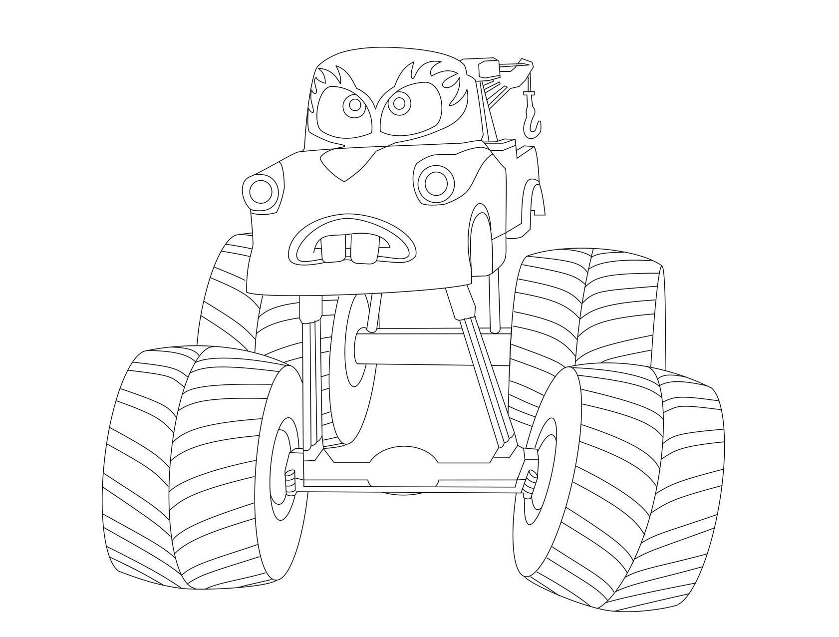 Tow Mater Christmas Coloring Page | Christmas Coloring Pages