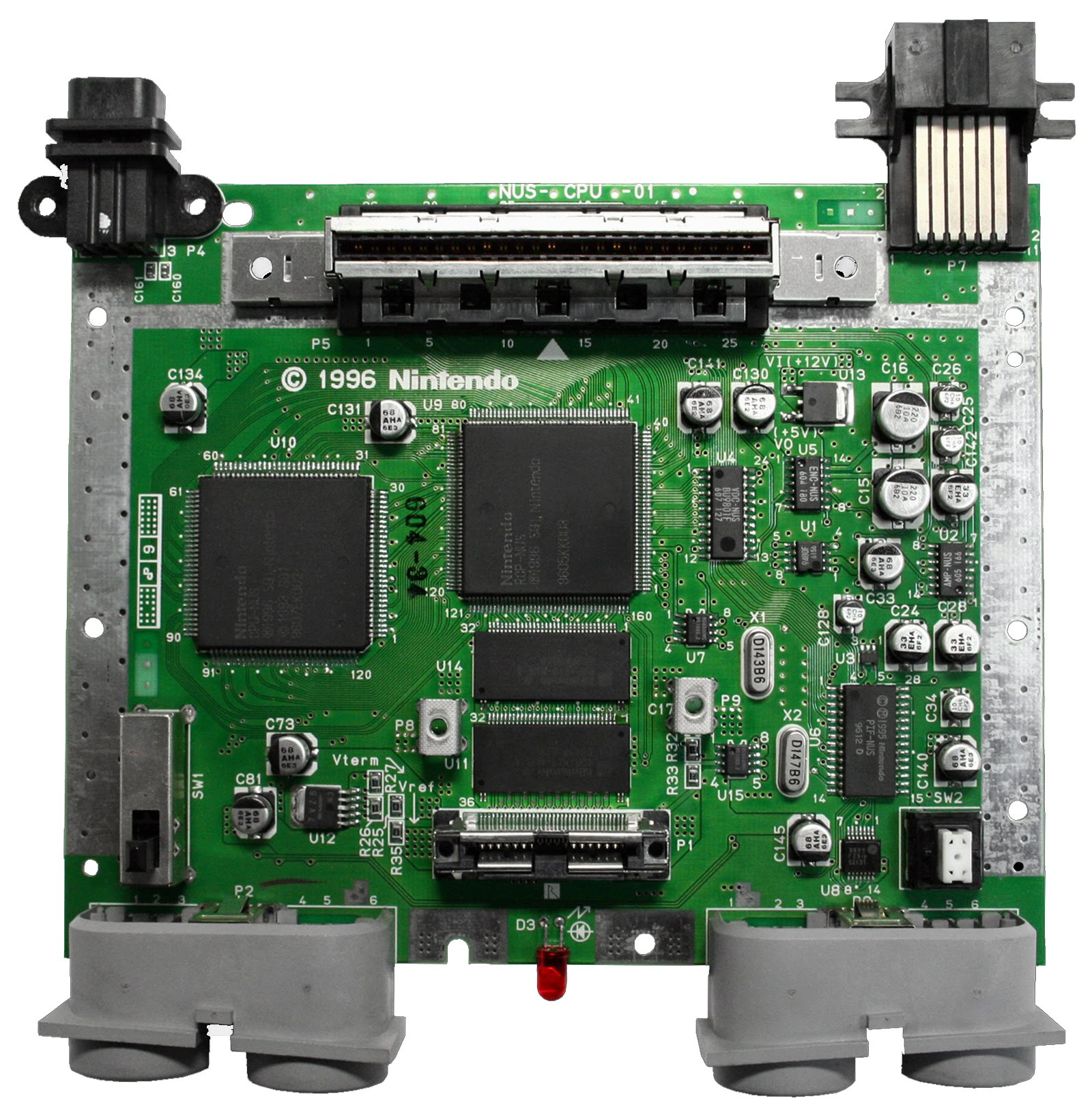 hight resolution of motherboard for the nintendo 64 console system