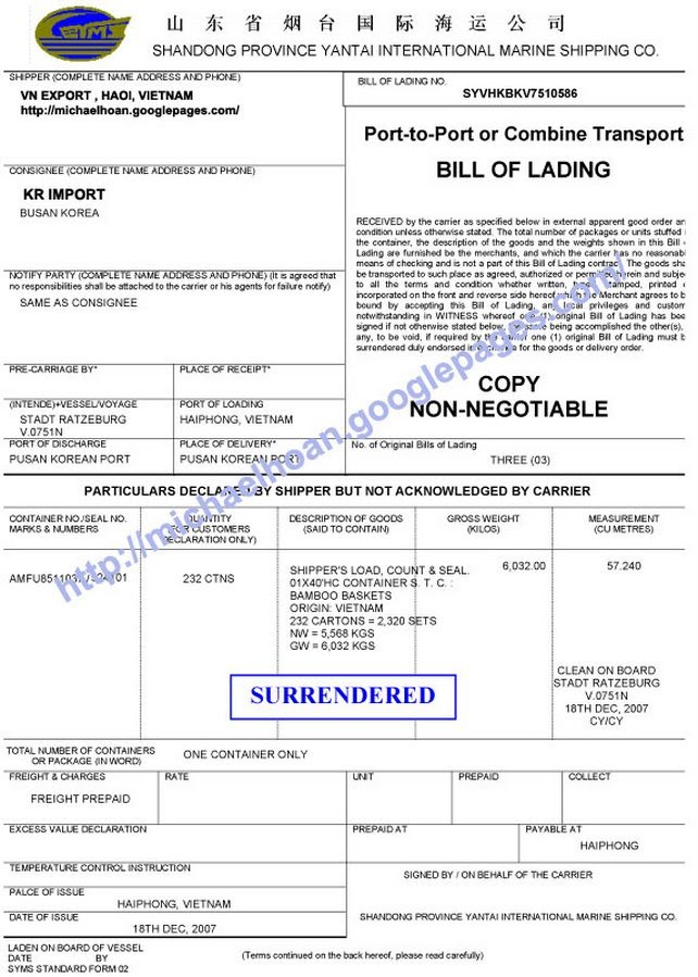 Blank Bol Form. Printable Sample Blank Bill Of Lading Form 898