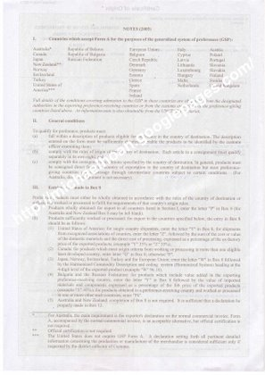 CO Form A Sample Vietnam Import And Export