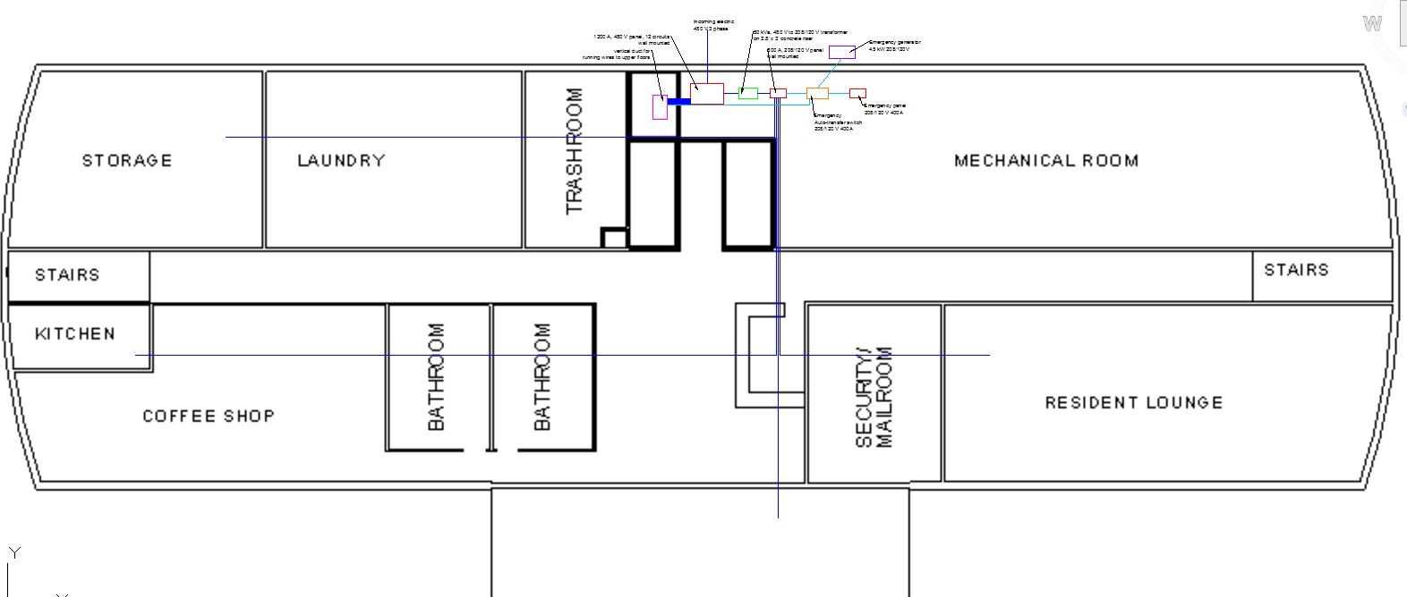 hight resolution of below is a close up of the first floor below is the electrical single line diagram