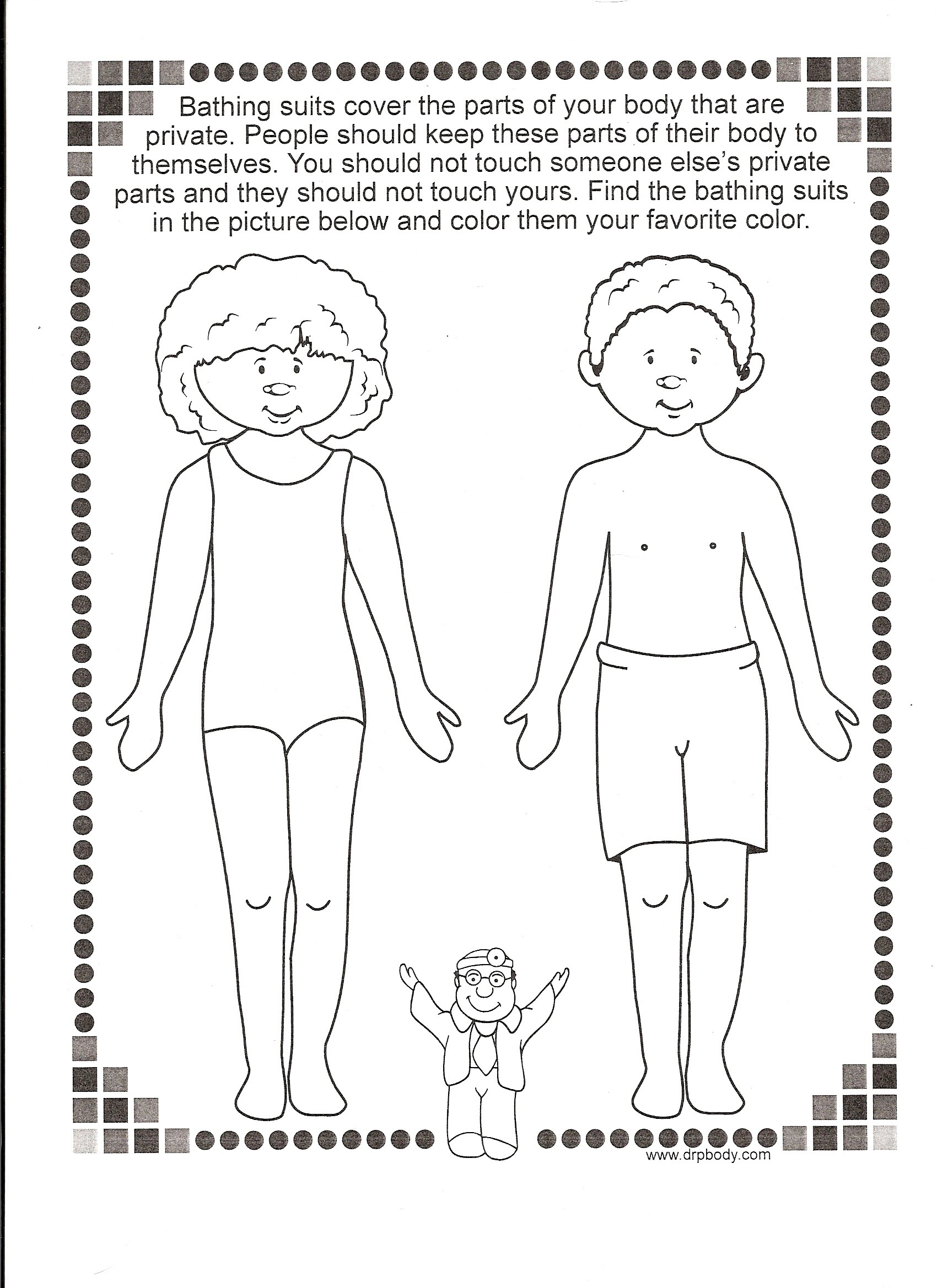 Body Part Worksheets For Kids