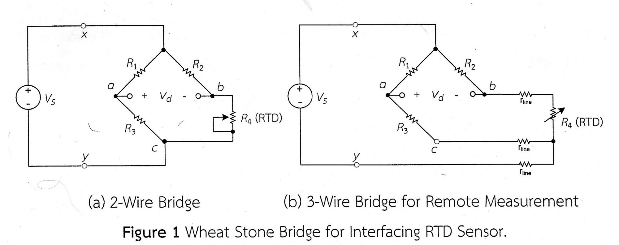 hight resolution of labiv op amp signal conditioning circuit for 3 wire rtd bridge