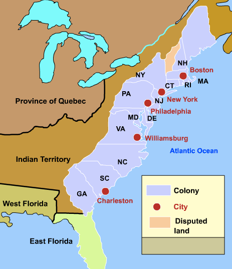 S New York Colony Geography