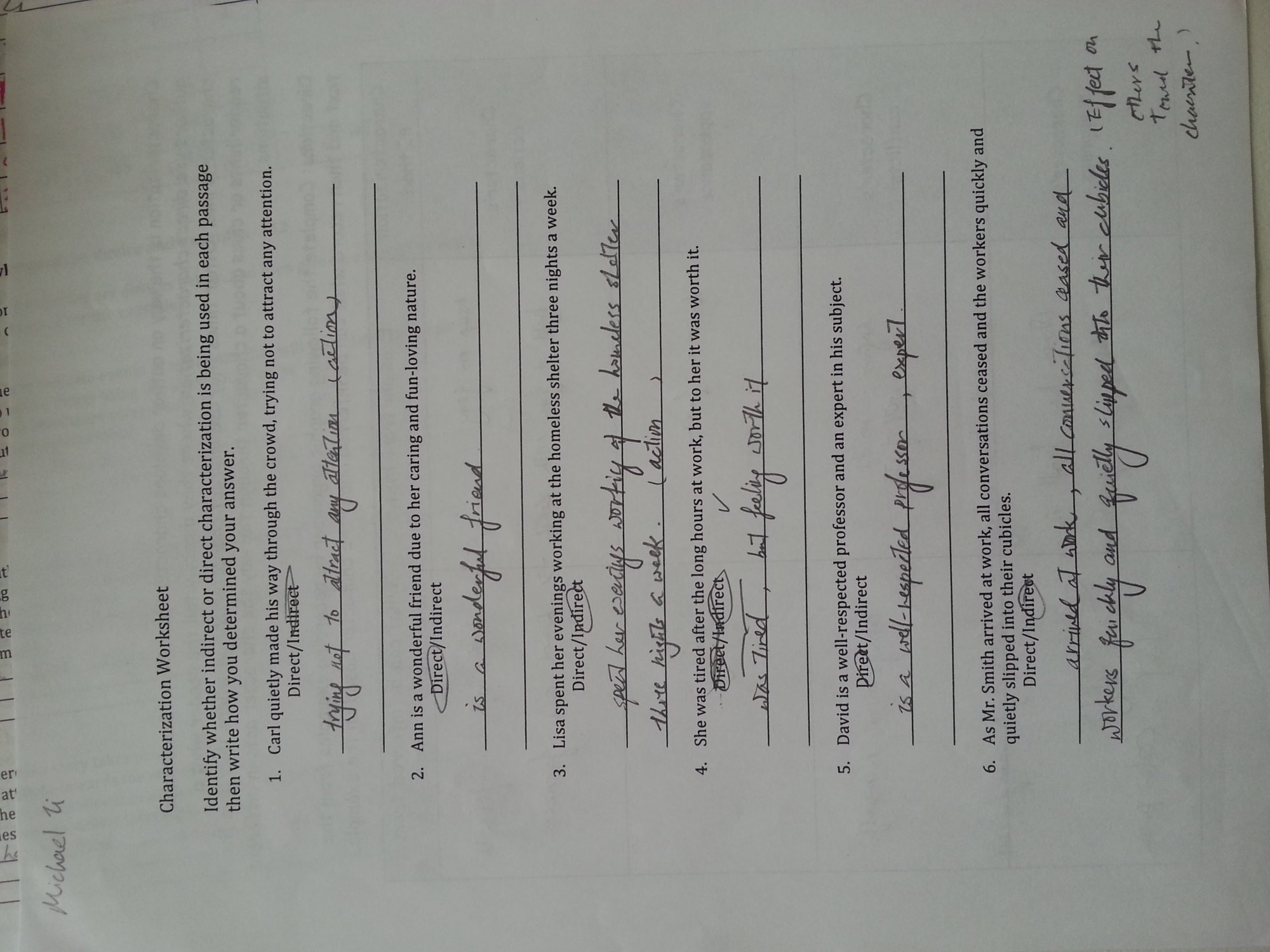 hight resolution of Characterization Worksheet 1 Answers - Worksheet List