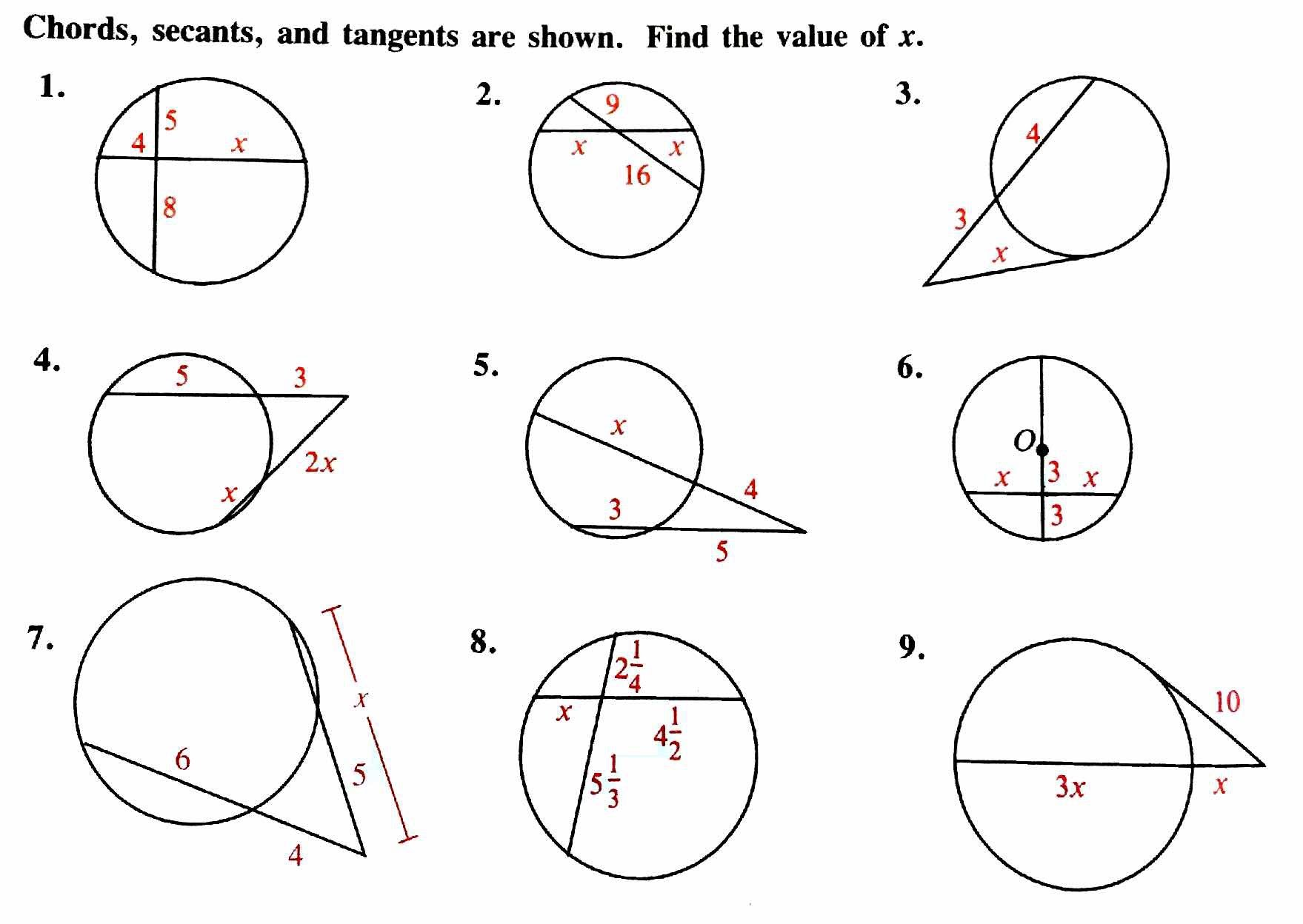 4/5 How do you solve problems using the circles theorems