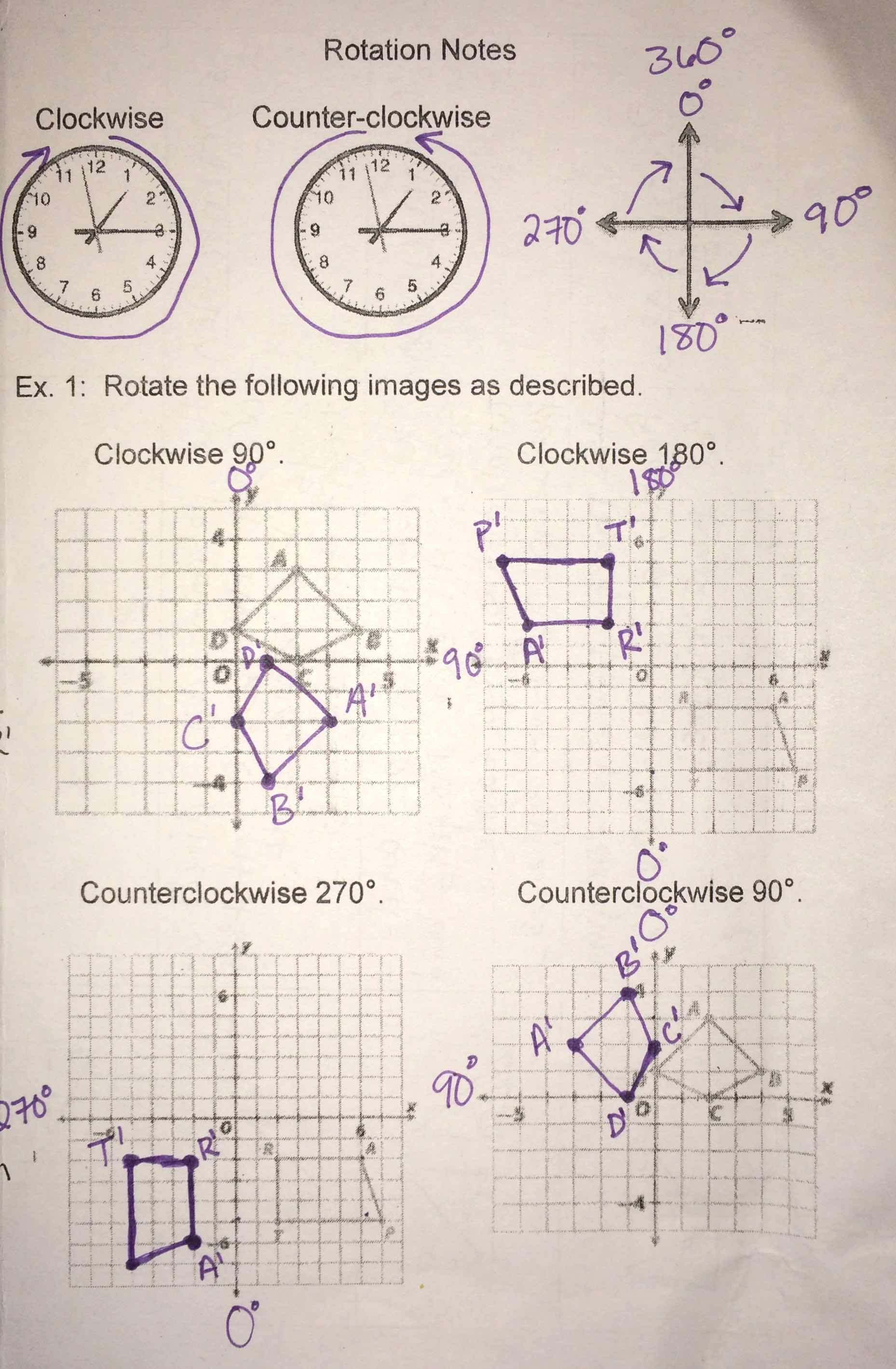 Unit 6 Transformational Geometry