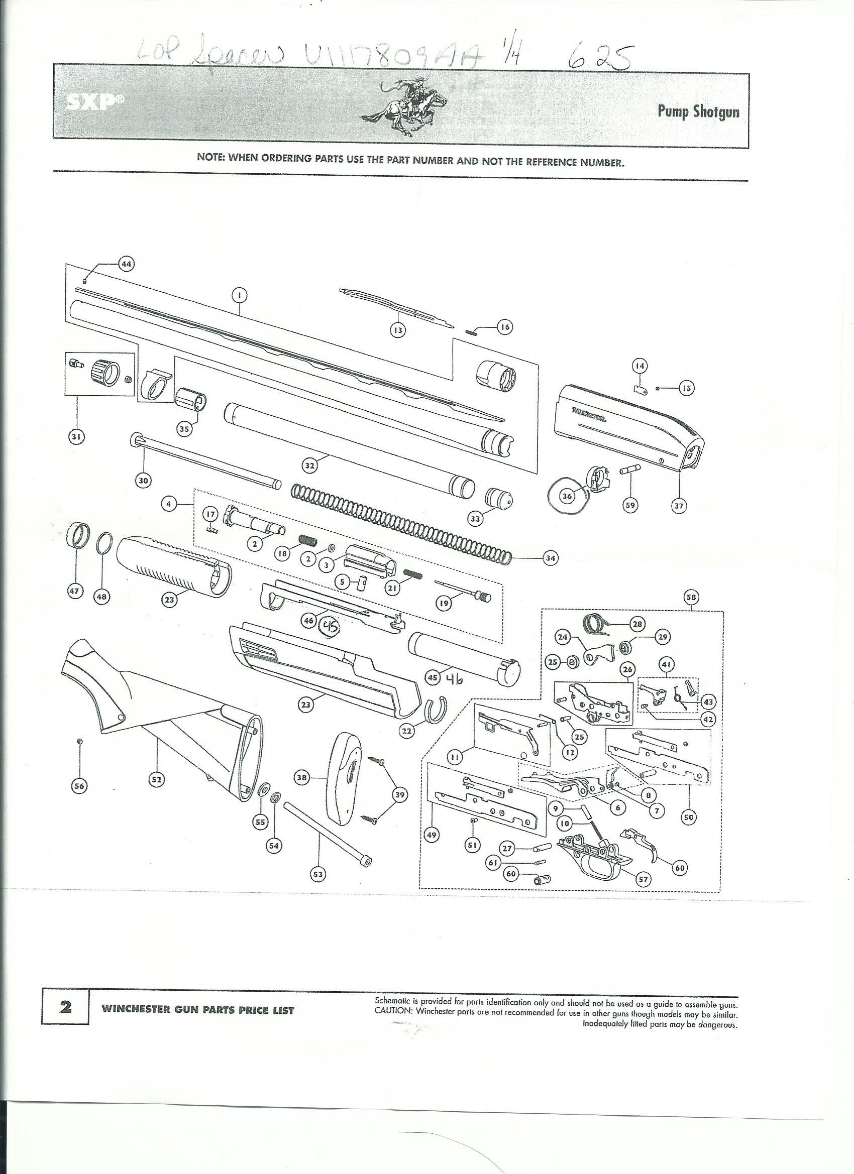 winchester sxp parts diagram