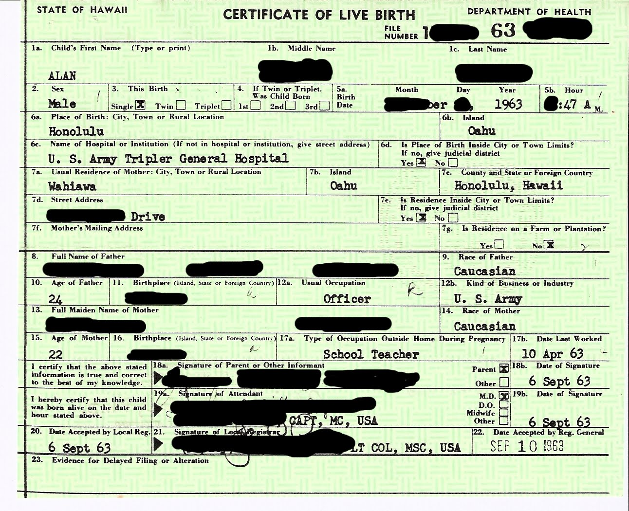 Obama And Sun Yat Sen Both Are Presidents Who Have Birth Records
