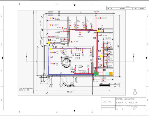 small resolution of figure 2 first floor hvac single line diagram