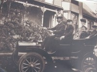 A photo of First car in Roanoke in 1903 owned by the Ervin E. Richards Family