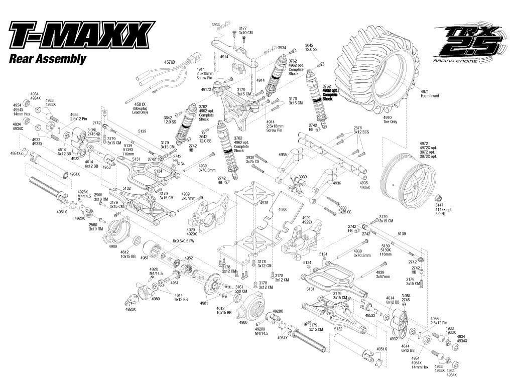 traxxas t maxx 2 5 transmission diagram one way lighting circuit engine imageresizertool com