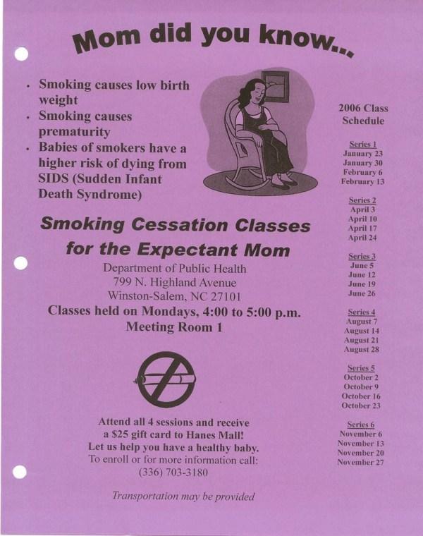 Prenataleducationclassesatthedepartmentofhealth