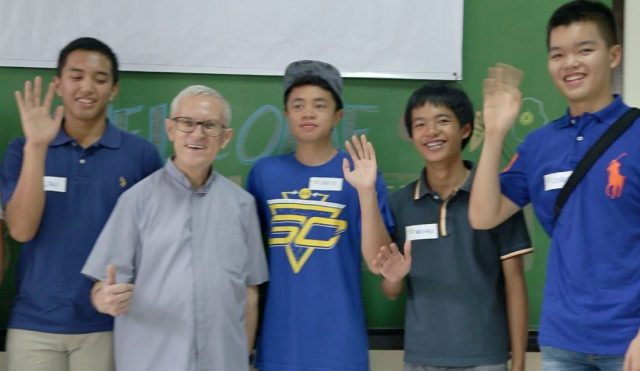 The MEALenium Project Core team with Fr. Julio Cuesta