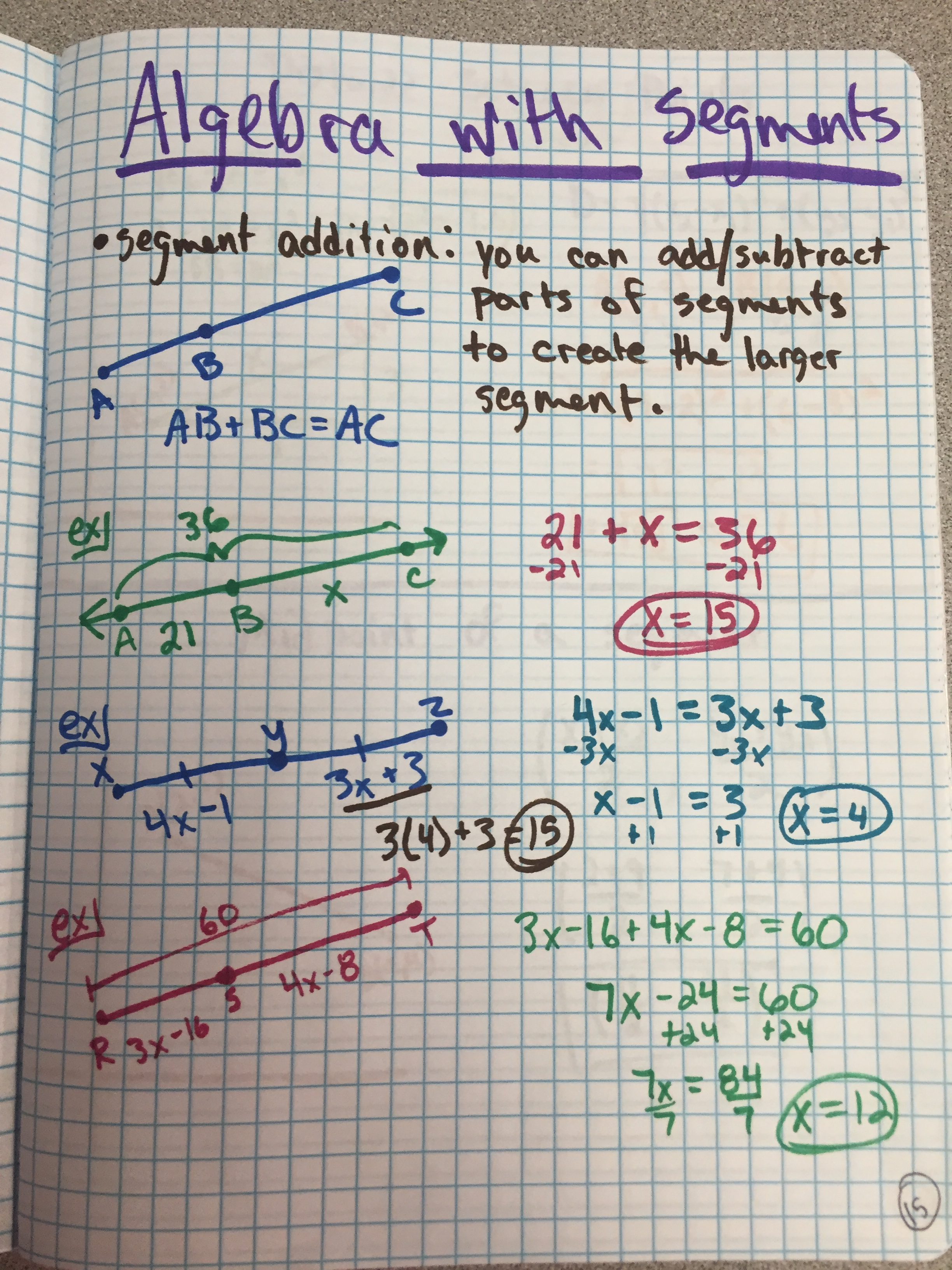 Geometry Worksheet 11 Congruence And Segment Addition