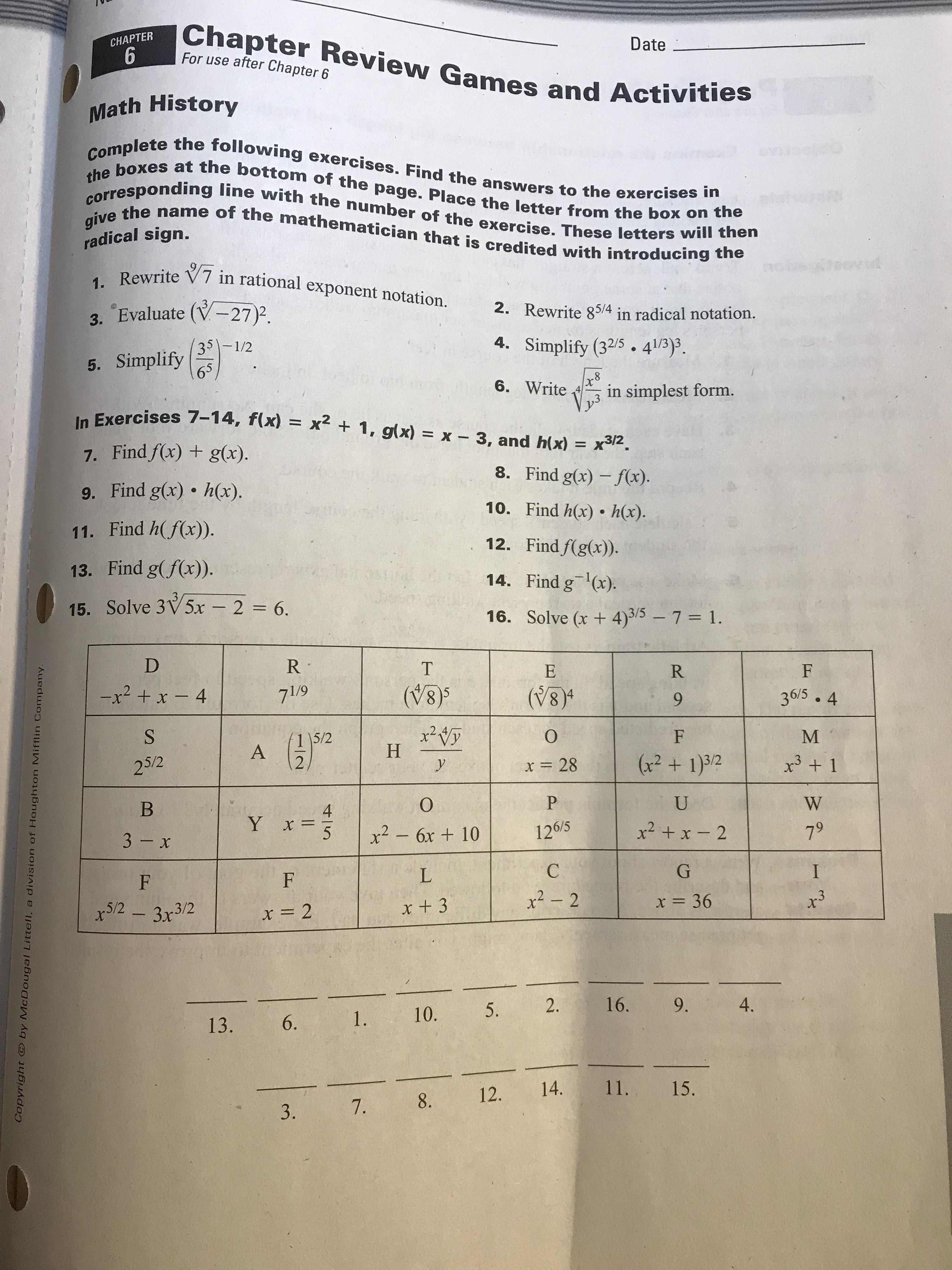 Honors Algebra 2 Worksheet Word Problems Linear Equations