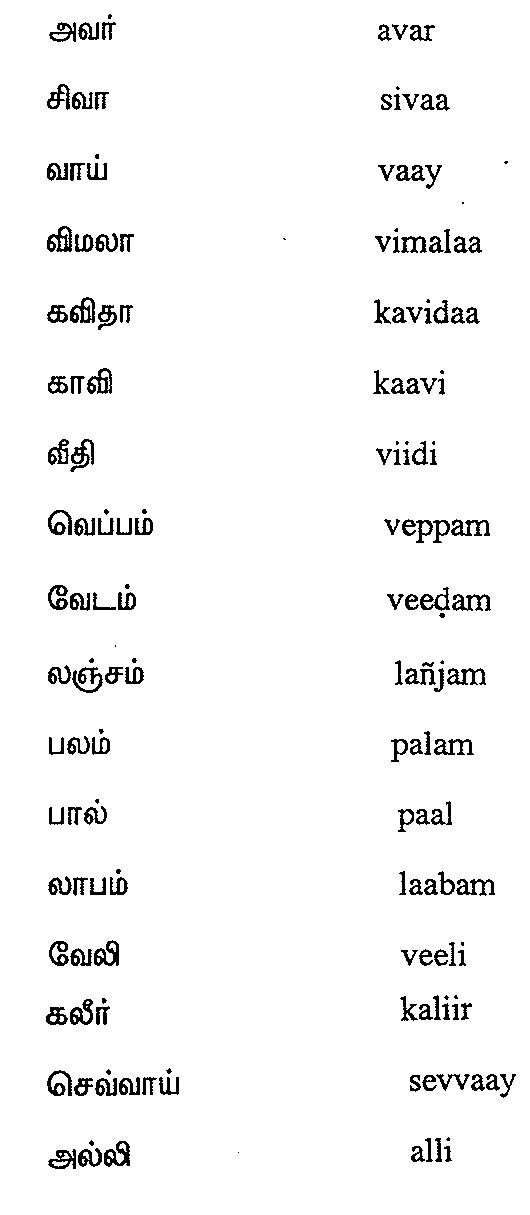 Tamil Script Learners Manual » Module 09