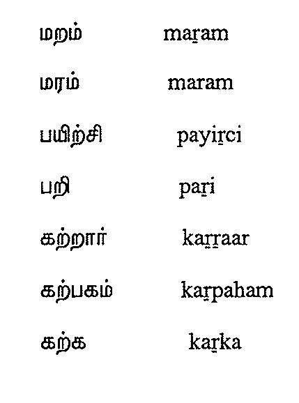 Tamil Script Learners Manual » Module 10