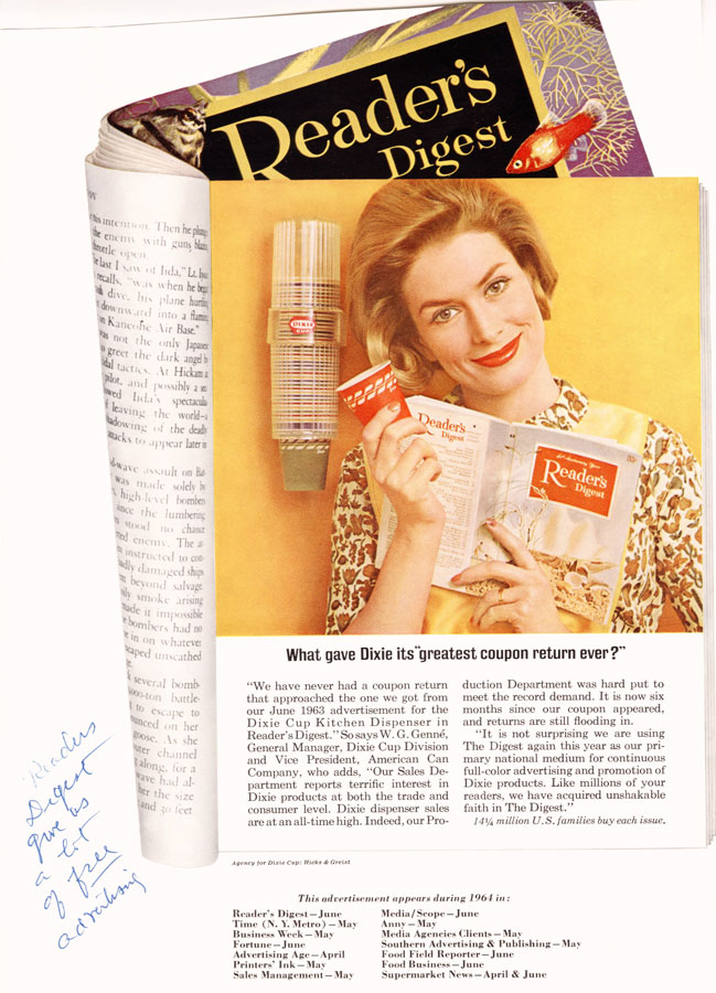 1960s  Whistlin Dixie Marketing the Paper Cup 19101960