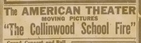 collinwood fire advertisement