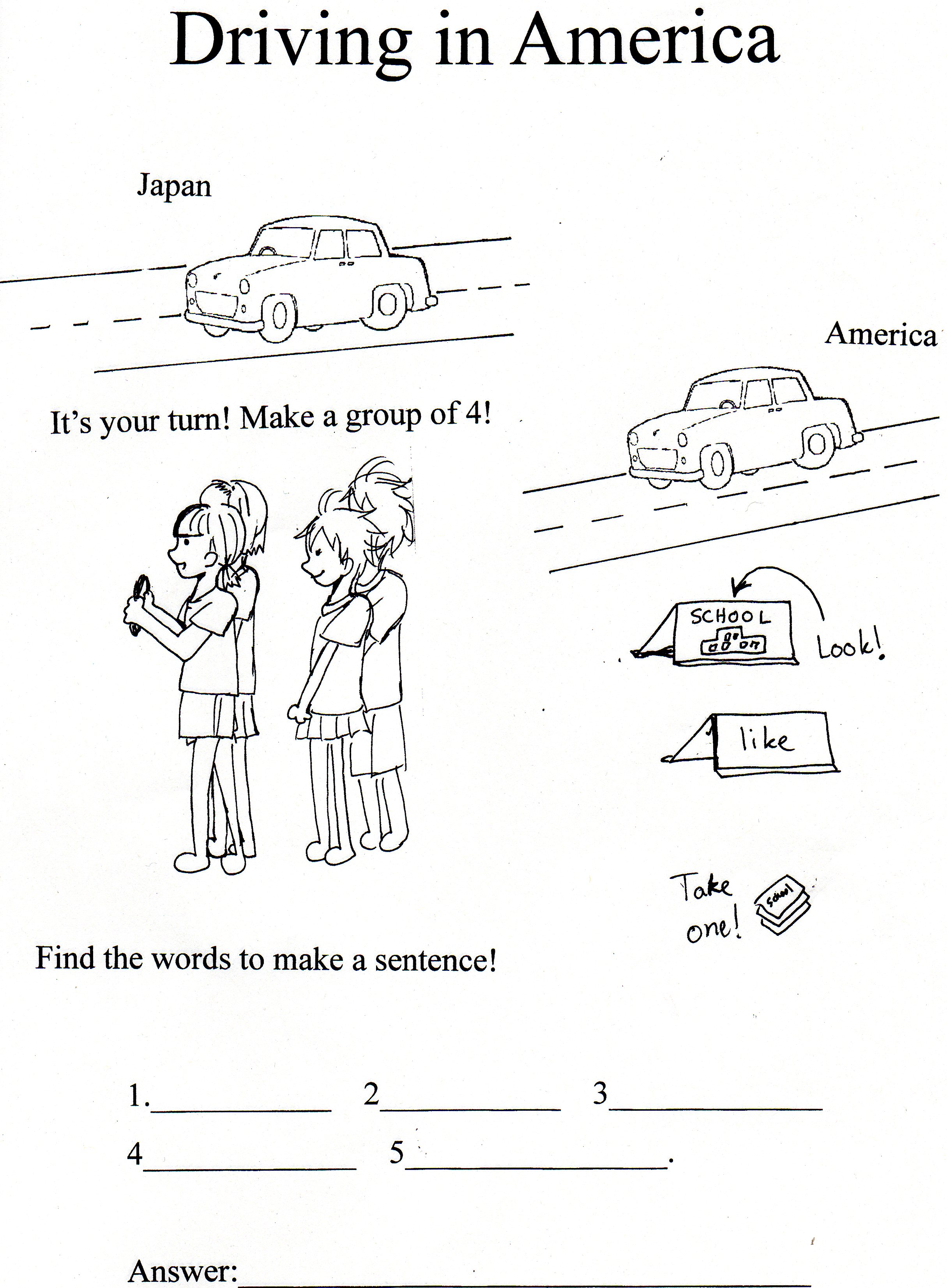 Driver Education Signs Worksheets