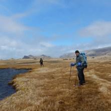 Sampling freshwater in subantarctic Crozet Island