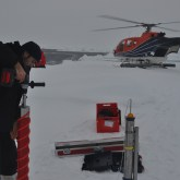 Sampling Arctic sea ice