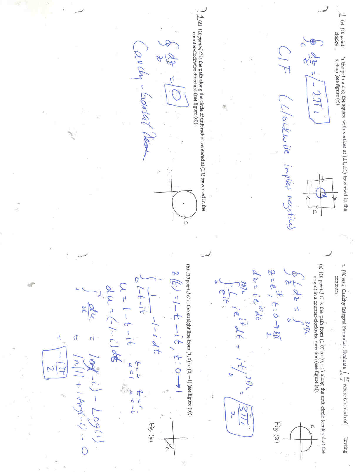 Math 312: Complex Analysis: Exams