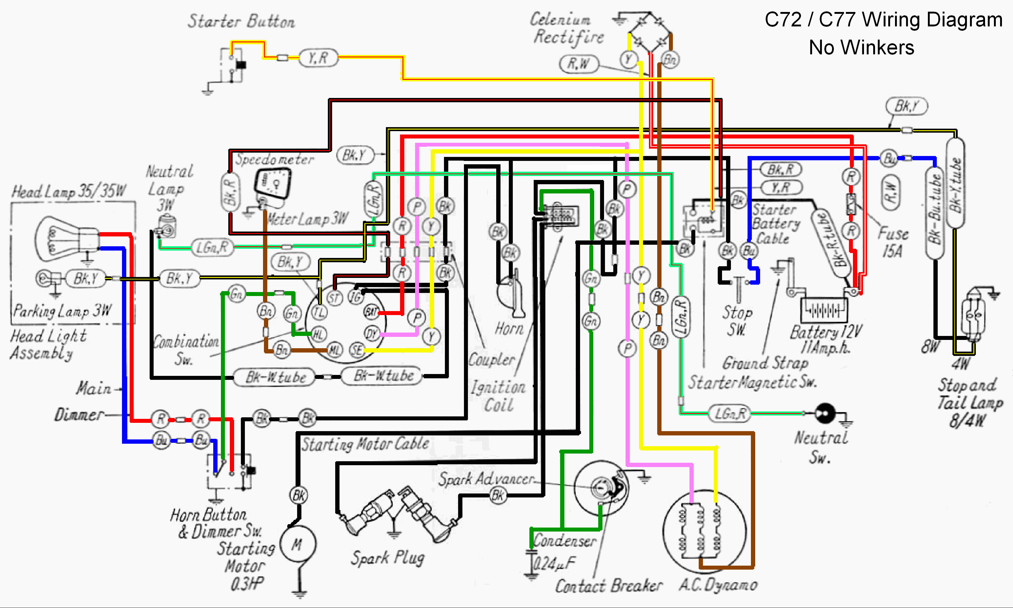 Wiring Diagram 1972 Honda Cl70 Electrical Diagrams 1982 Ct 70 Diy Enthusiasts U2022 110cc Atv