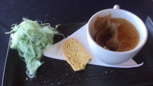 espresso crème brulee, house-made pistachio and macadamia biscotti, and pistachio pershain fairy floss