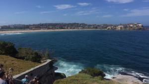 Distant view of Bondi Beach