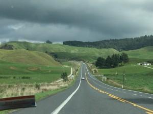 Driving through New Zealand