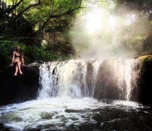 Waterfall at Kerosene Creek