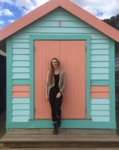 Close up of Brighton Beach hut