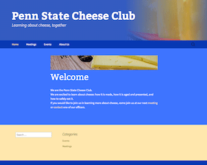 Cheese Club Website