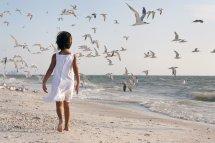 Girl Walking Beach - Bing